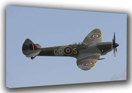 Supermarine Spitfire Mk XVI. World War 2 Military Aircaft/Aviation Canvas. Sizes: A3/A2/A1 (0068)